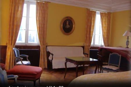 chateau massal chambre jaune 34m2 - Bez-et-Esparon - Kasteel