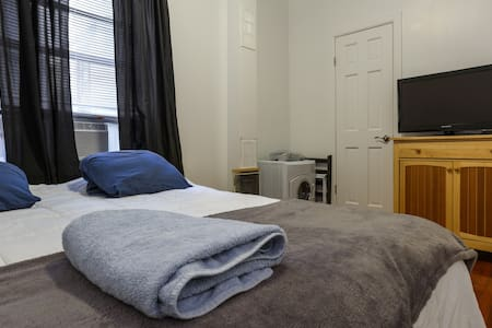 Great newly renovated apartment in NYC exciting Hamilton Heights neighborhood. Young and diverse neighborhood, with plenty of shopping, bars, restaurants and easy access to public transportation to get you to your desired destination. Very near to Riverside and public parks for recreational purposes.