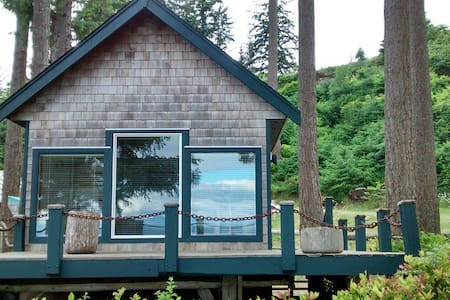 Ocean Waterfront Beach Cottage - Cabin