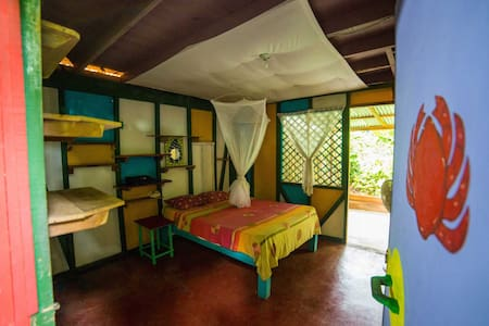 Private room shared bath+kitchen - House