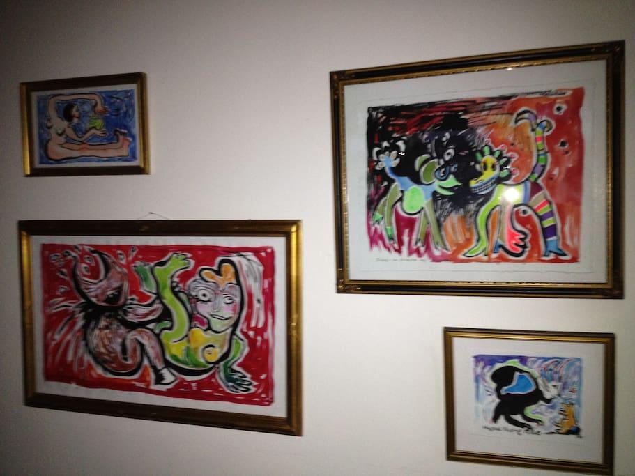 Art in the livingroom