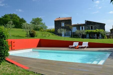 Maison de caractère, Ardèche - Saint-Lager-Bressac - Dom