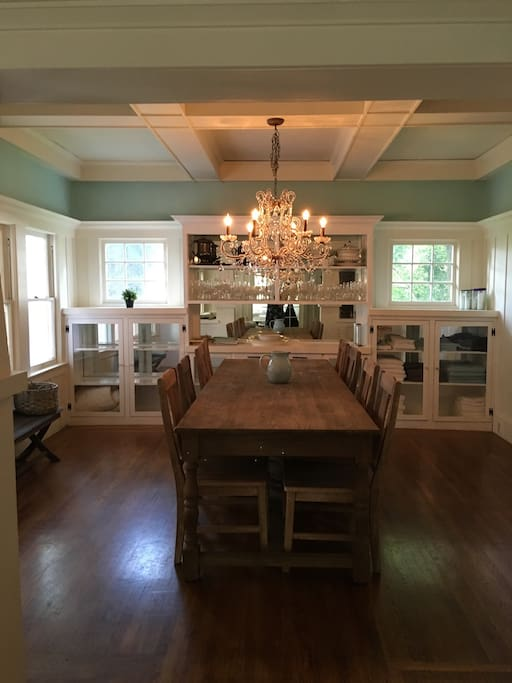 9' long dining room table is great for large dinner parties!
