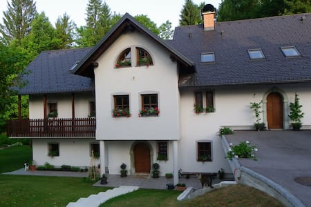 6 Bed Family/Group Bunkroom with Private Bathroom. - Ribno - Haus