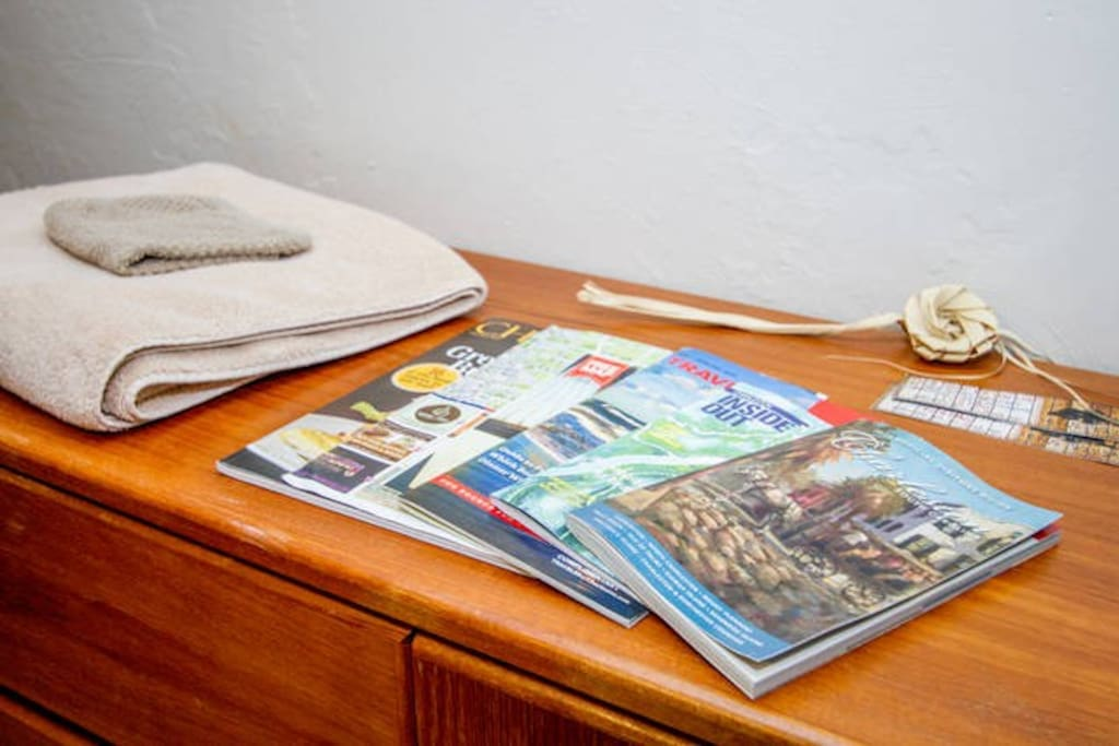 Towels, amenities and plenty of local information