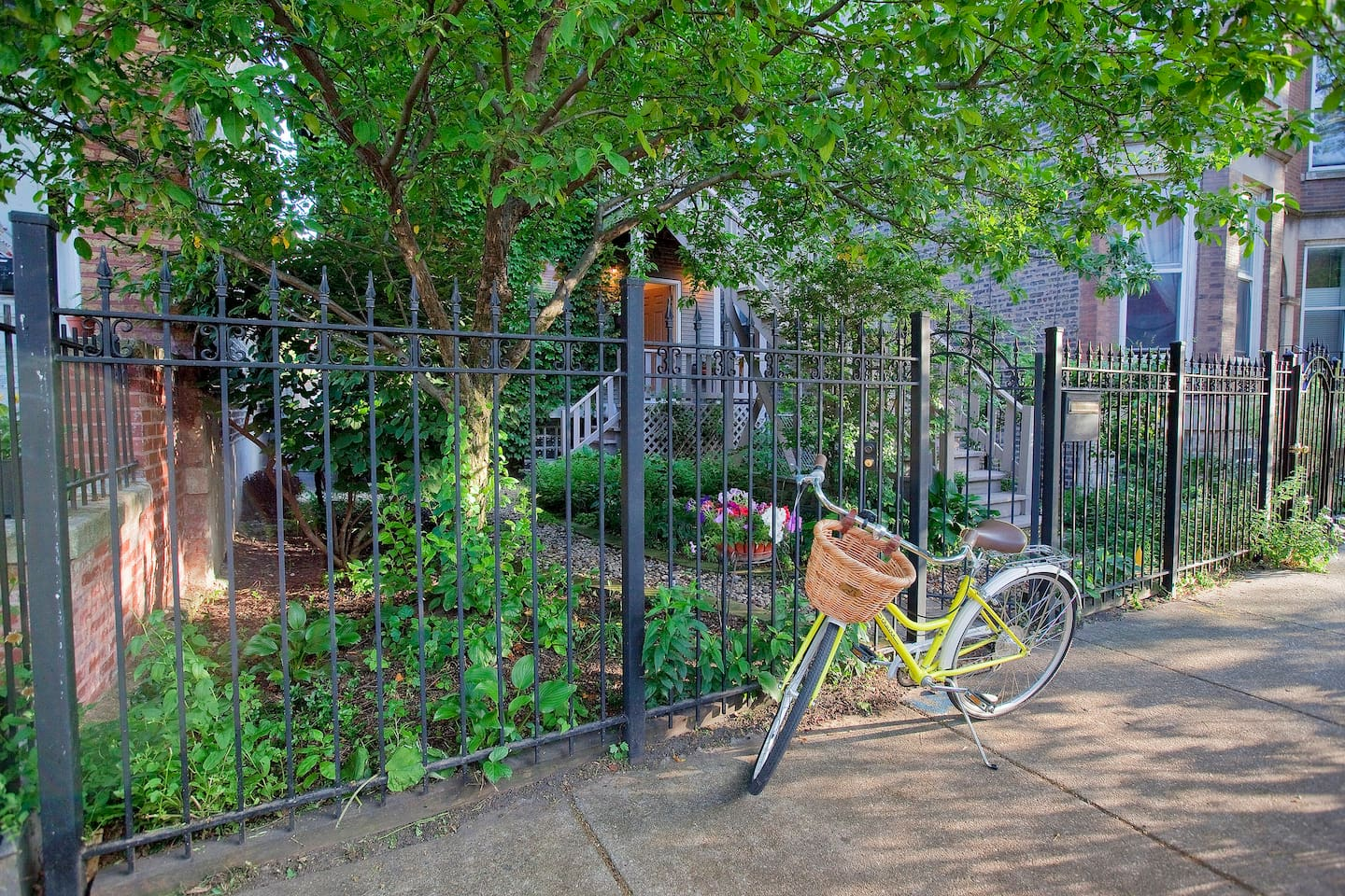 Charming Wrought Iron Front Entrance