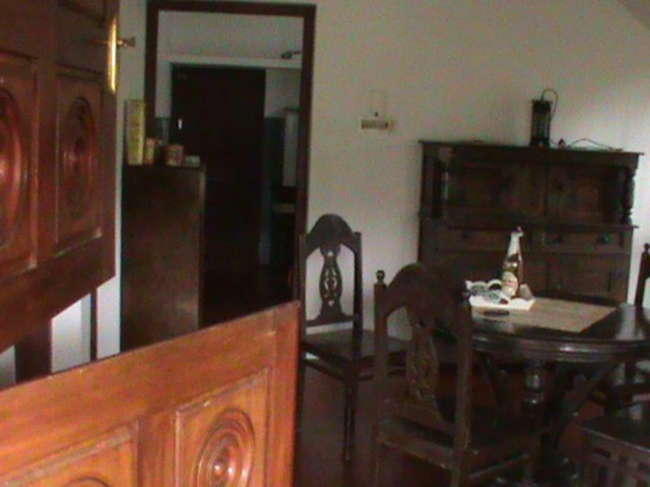 The River House - Dining Room with entrance to Kitchen