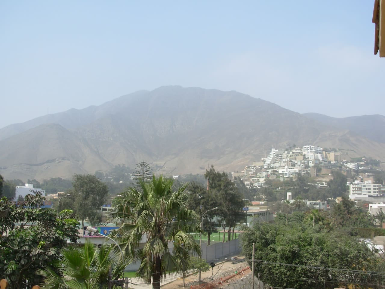 View from the balcony and one block away to the Peruvian Gold Museum