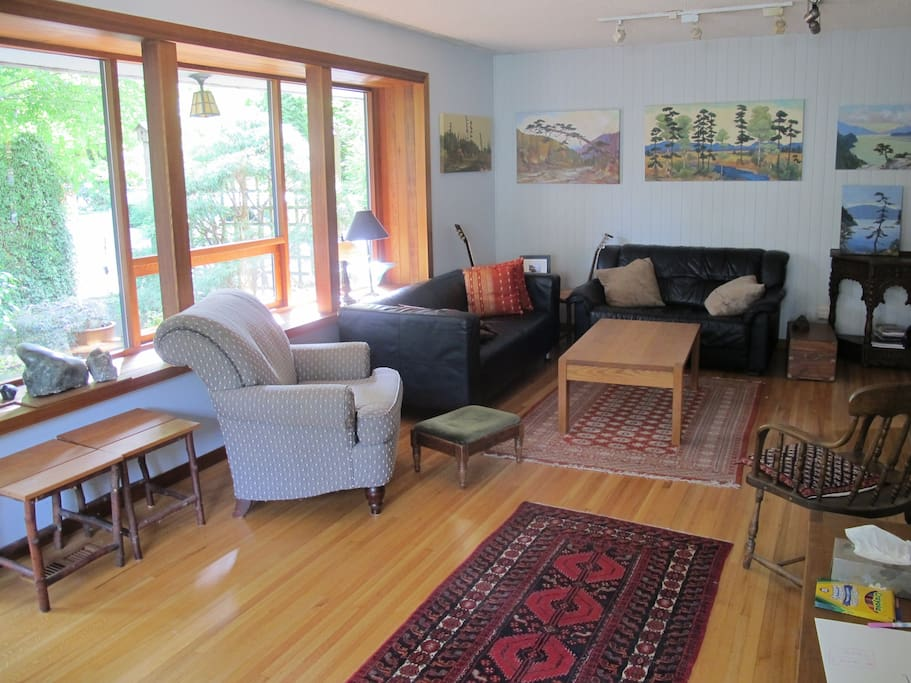 The living area has comfortable seating.