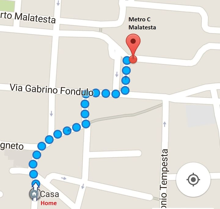 Where: Malatesta station is just a few minutes walking from the house