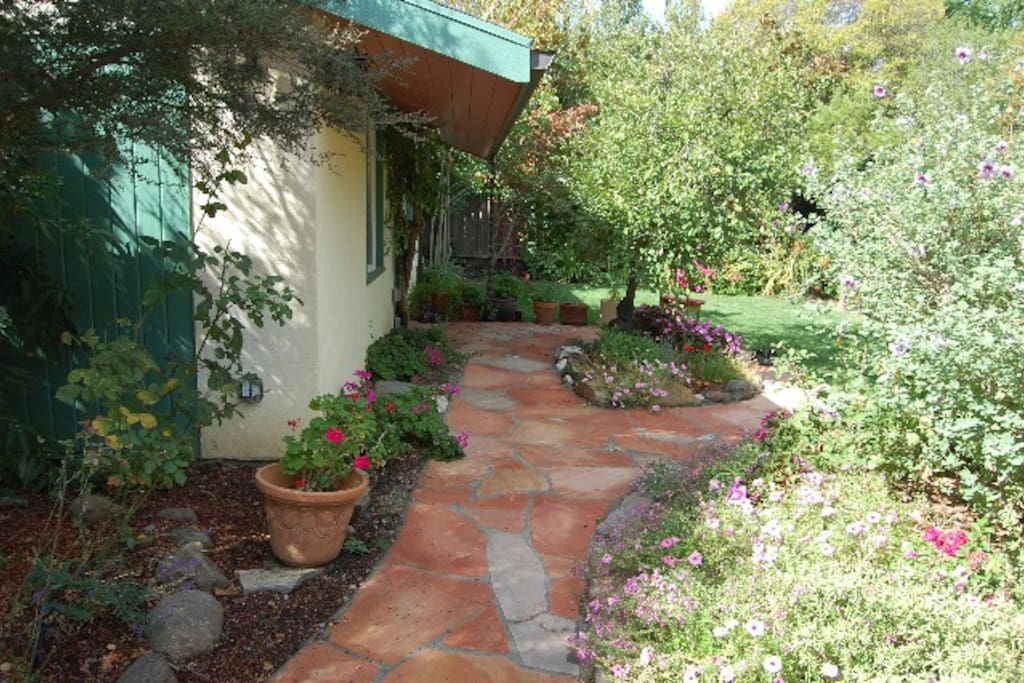 Pathway to cottage