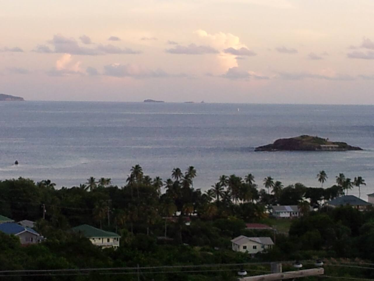 The amazing view from my veranda. You can stand there forever watching and listening to the ocean.