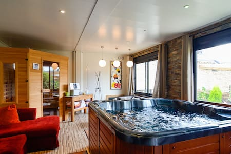 Location gite moderne,spa,sauna,mas