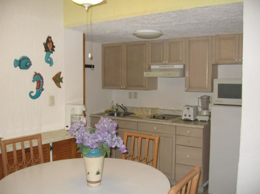 Fully Kitchennete and Dining Area