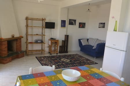 You will stay in a nice and bright apartment, located in the seaside village of Puntabraccetto and just a 5 minute walk from the beach. The accommodation, reserved and quiet, is located within a large private courtyard.