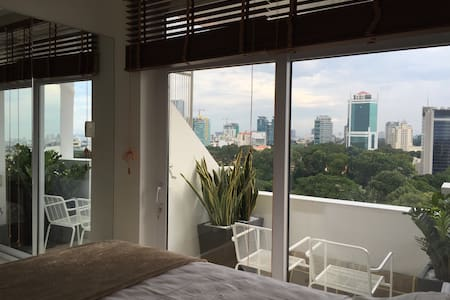 Just 5 minutes away from the CBD centre, the Zoo & Botanic garden  apts have the greatest views to offer. This particular apt is just renovated & next to the door of mt listing Zoo & Botanical garden apt #1. See more of it in my profile page.