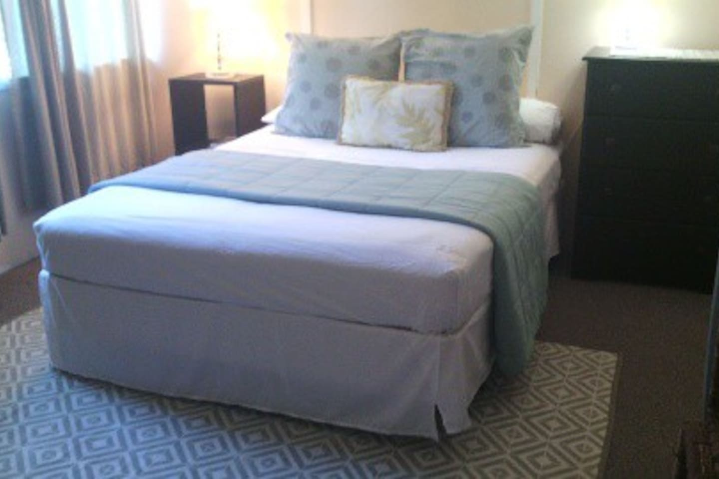 Clean and spacious master suite