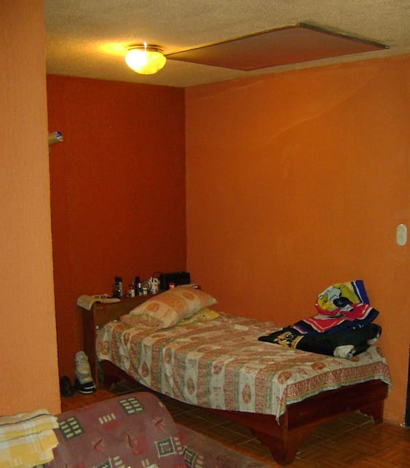 Private room with bathroom, has own access to kitchen and entrance