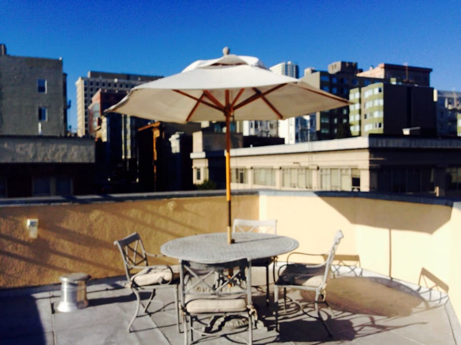 Toast to a San Frantastic adventure on our rooftop terrace.