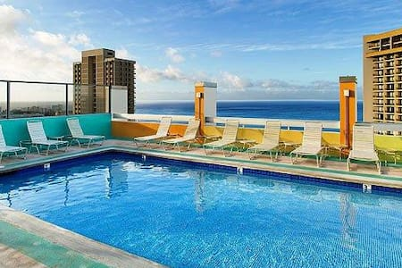 Rooftop Pool and Ocean View Studio - Condominio