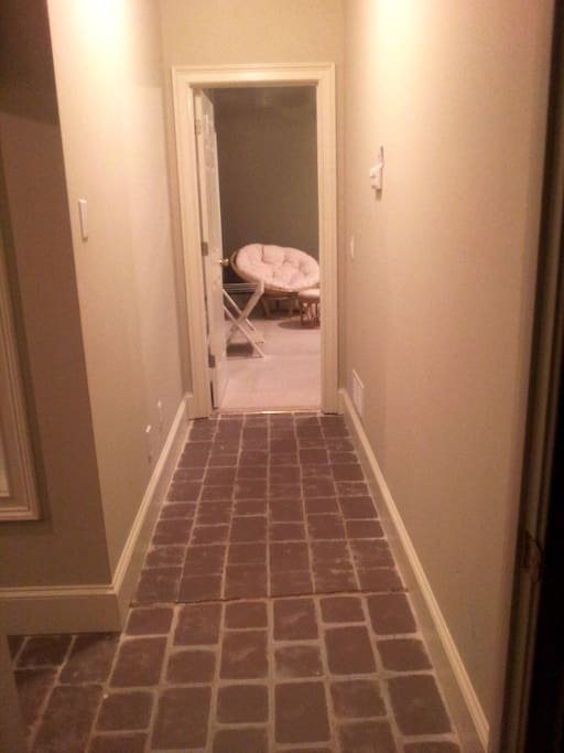 Private hallway to the bedrooms