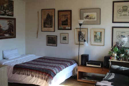 Rustic, Queen Bed, Central Berkeley