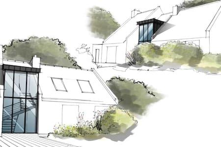Villa d'architecte, 200 m2, bord de mer - Arradon - Casa
