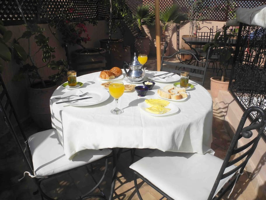 Start your day with breakfast on our sunny terrace.