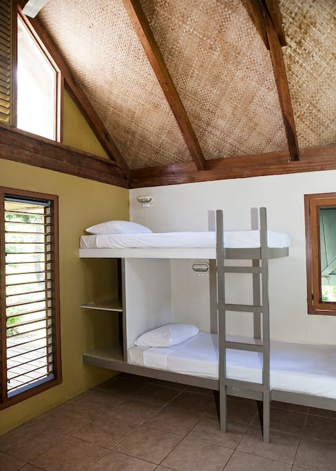 Our six-bed dormitories.