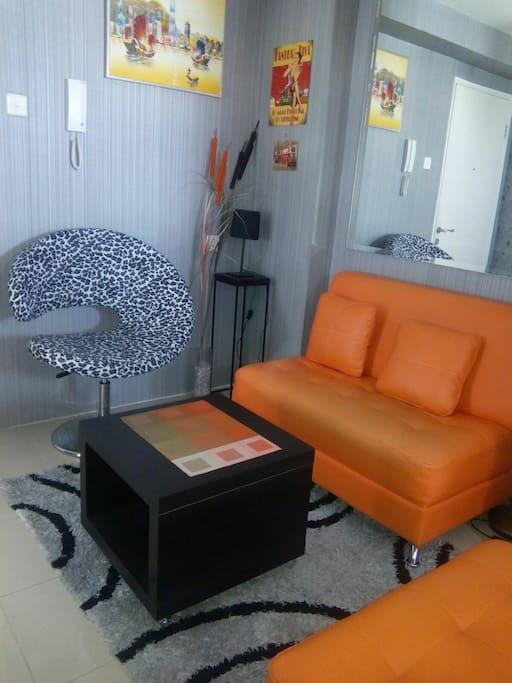Orange Grey 2BR Aparmn in Jakarta