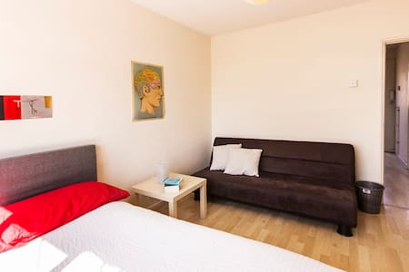 Private room with double bed & sofa - London - Apartment