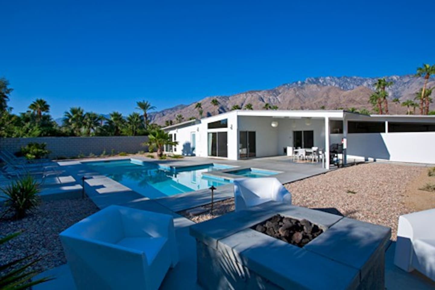 42 foot long lap pool with stunning views of the San Jacinto Mountains