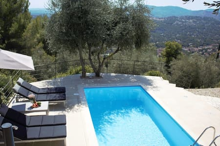 Villa Cabris - 15 km from Cannes with heated pool - Cabris - Haus