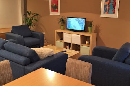 Our Apartment is located in city center & pedestrian zone. It is completely redecorated with a new kitchen, new bathroom, new beds and mattresses, fast wifi, air conditioning in every room, cable tv, xbox/laptop on demand, indoor parking.