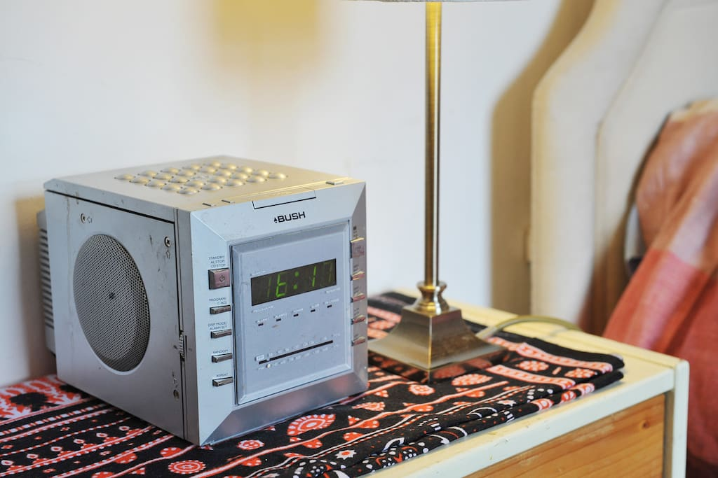 A clock radio to wake you up in time for breakfast!