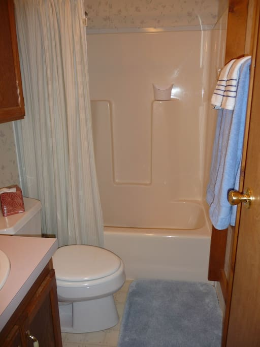 Full bath.  Bathroom is located between both guest bedrooms.