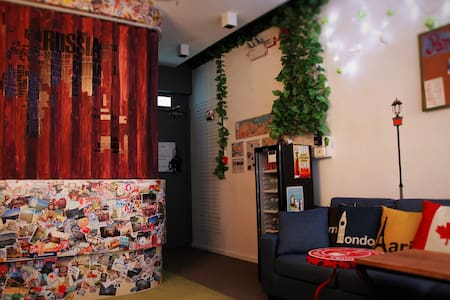 A cozy common area is outside the dorm and is available 24/7. Just sit back and enjoy a cold beer. Feel free to chat with other worldwide travelers. Probably you would get a lot of fun here.