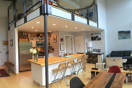 1 Bedroom Loft with 18-foot ceiling