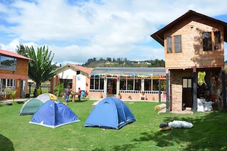 Casa de campo Suesca 1hr de Bogotá - Szoba reggelivel