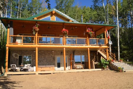 Beautiful lake front log cabin! - Dapp