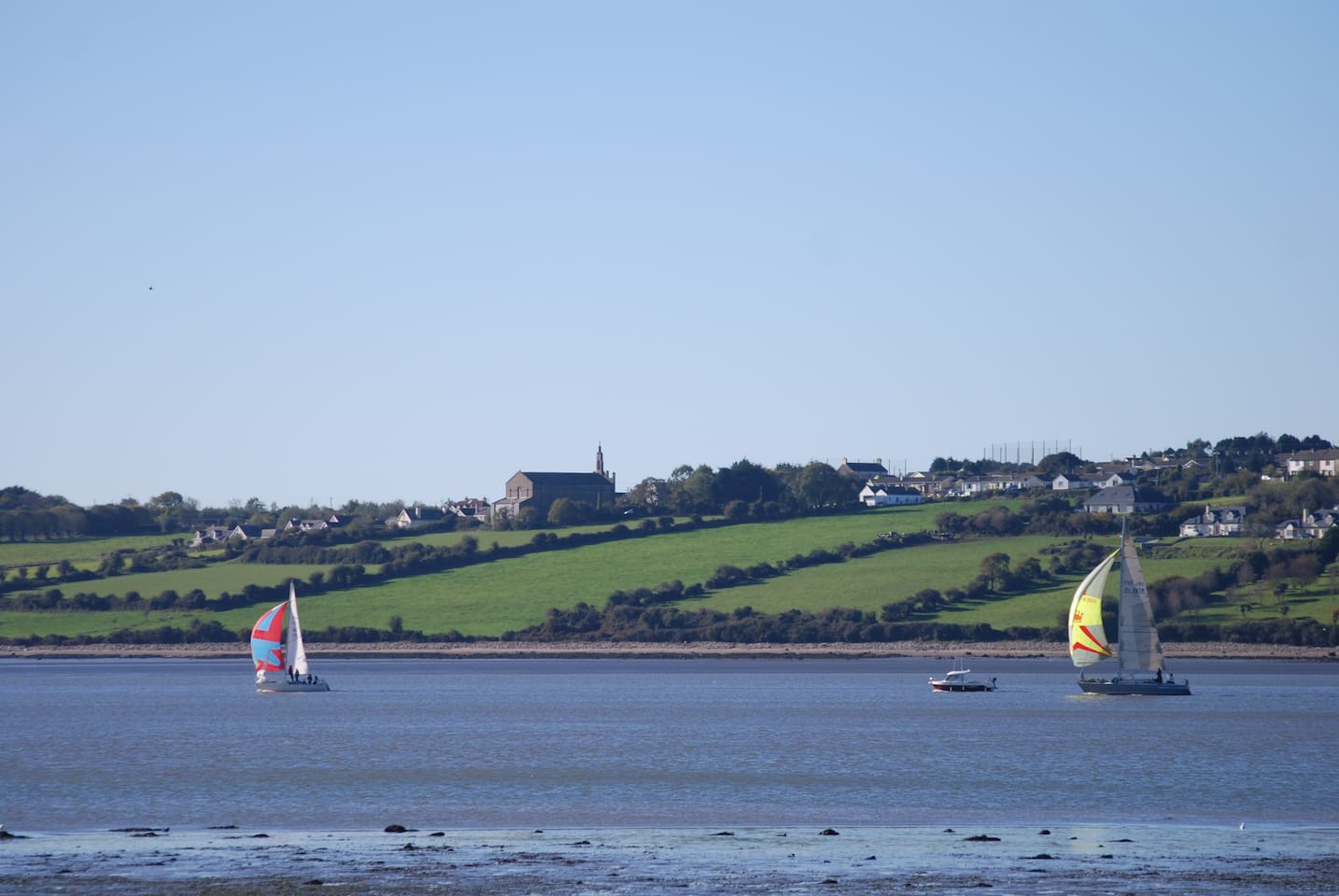 Looking over to Crooke and Passage East County Waterford