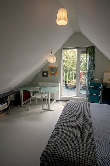 Your room with private rooftop terrace