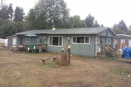 Come and stay in beautiful Ocean Park, Wa. Enjoy the peace and tranquility this area has to offer. Enjoy a cozy fire and relax . We also offer an RV hookup for an additional fee.