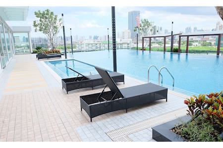 1 BR CHICK & CHILL  MRT WIFI POOL