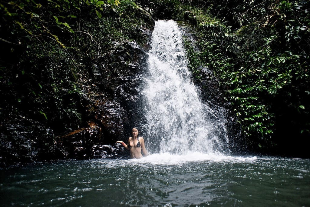 Go for a swim in the waterfall