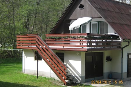 Apartment near lake with a terrace - Daire