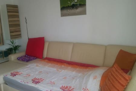 Comfortable couch in 2BD apartment