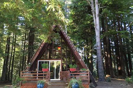 A-Frame On The Mendocino Coast - 포트 브래그 - 통나무집