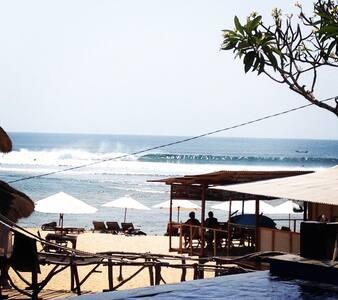 Bali Beach House with Infinity Pool