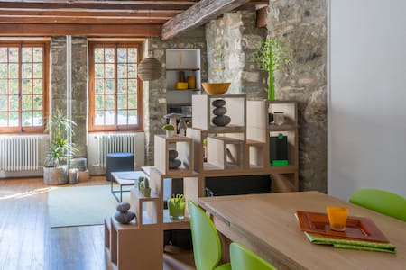 """Beautiful 54 m2, 1 bedroom apartment in an 11th century tower """" La Tour César"""" situated a few steps from the lake Leman, in the old town of Rive. This tastefully decorated apartment was entirely renovated in 2015."""